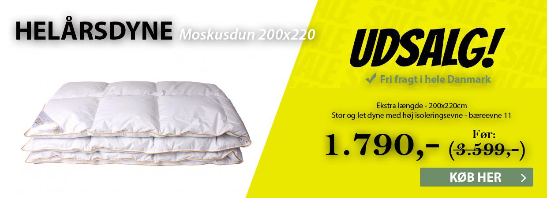 Helårsdyne i moskusdun 200x220